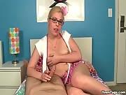 Teen blondie handjob