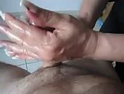 Soapy Amateur Handjob