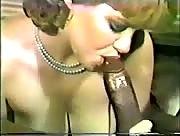 Vintage porn - chick jerks off black guy