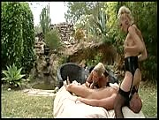 Two Dommes Treat A Slave