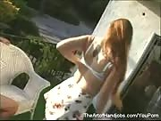 Naked Girl Jerks Off A Guy
