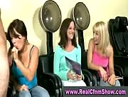 CFNM Handjob and Sucking in Hair Salon