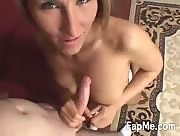 Eden de Garden Strips And Gives A Great Handjob And Blowjob