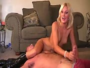 Bratty Teen Scissor Hold Handjob with JC Simpson
