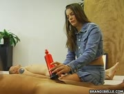 Penis Pump Hanjob with Brandi