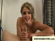 Tilly Hardy Gives Harsh Handjob To Dirty Guy