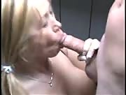Hot Blonde Outside Handjob