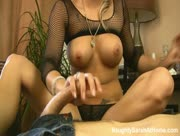 Footjob And Handjob From Hot Girl