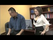 Office Handjob With Carmen Valentina