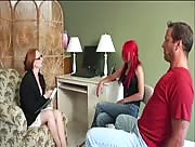 Jerky Girls Marriage Counselor Handjob With Audrey Lords and Aianna