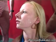 Tight Blonde Cleo Loves Bukkake