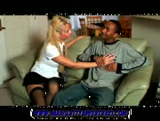Blonde Bimbo Barbie Jerks Big Black Young Cock