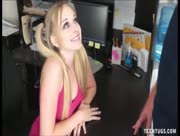 Cute Teen Avril Vagine Jerks Off Man