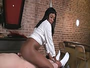 Black Babe Tasha Jerks, Grinds and Pops Whitey