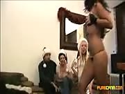 Four Girl CFNM Handjob Video