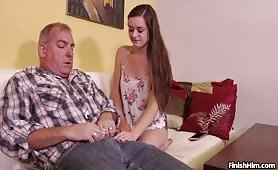 Step Dad Gets Jacked Off By Amber Mae