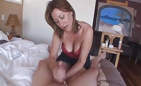 handjob from british MILF Mistress