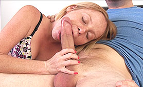 Small Young Teen Giving Blowjob