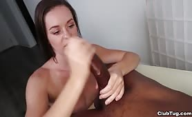 Big Black Cock Jerked Off