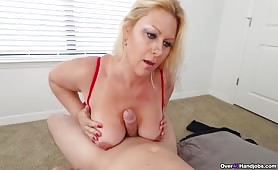 Blonde MILF titty Selah Rain fucks step son