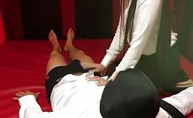 Mistress Gabriella Feet Sniffing Handjob
