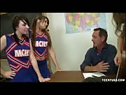 Pocahontas Jones and Dakota Charms Handjob Thier Teacher