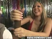 One Lucky SOB gets Handjob From Delilah Strong